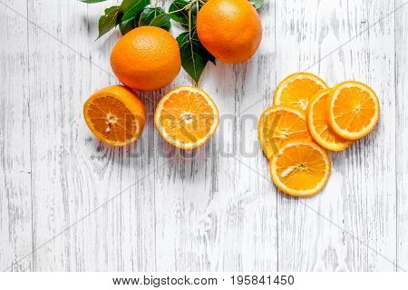 Citrus concept. Fresh fruits on wooden table background top view.