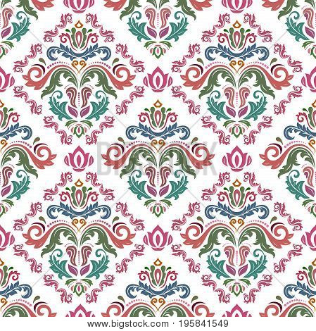 Classic seamless vector colorful pattern. Traditional orient ornament. Classic vintage background