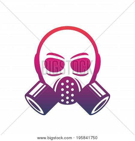 gas mask icon, vector sign over white, eps 10 file, easy to edit