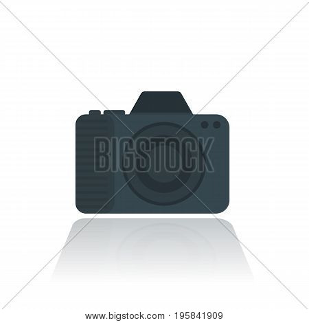 camera icon, pictogram in flat style on white, eps 10 file, easy to edit