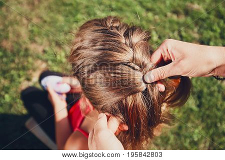 Girl With Hair Braids