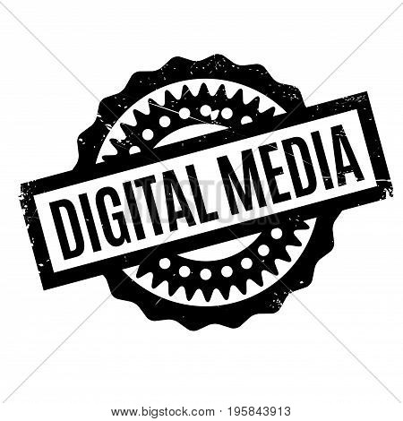 Digital Media rubber stamp. Grunge design with dust scratches. Effects can be easily removed for a clean, crisp look. Color is easily changed.