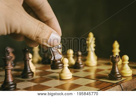 Knight Chess Beat Pawn Game