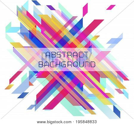 Abstract geometric background for your design. Brochure, leaflet, poster, backdrop, flyer etc. Stock vector illustration