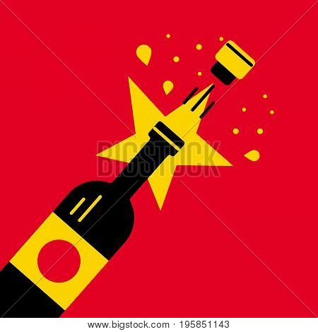 Wine Theme Vector Illustration