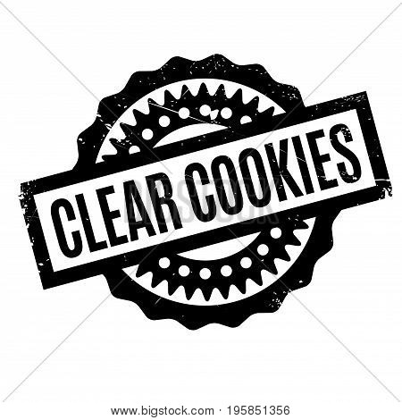 Clear Cookies rubber stamp. Grunge design with dust scratches. Effects can be easily removed for a clean, crisp look. Color is easily changed.