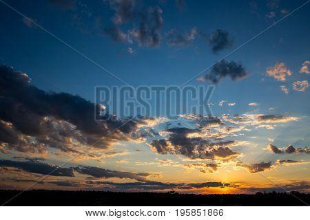 Nice evening sky with sunset
