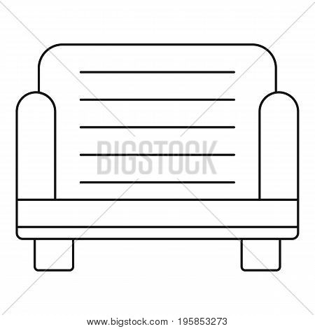 Armchair icon. Outline illustration of armchair vector icon for web