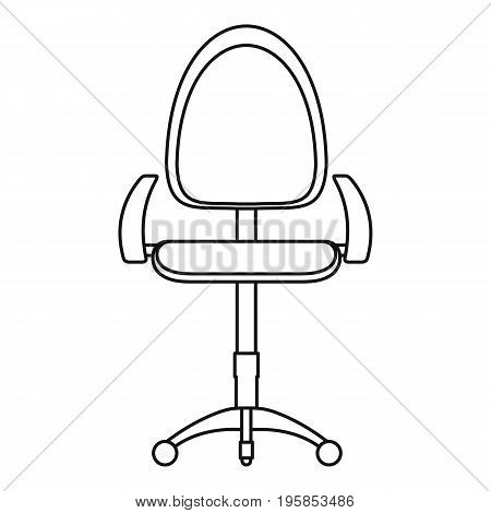 Stool icon. Outline illustration of stool vector icon for web