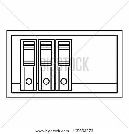 Shelf icon. Outline illustration of shelfr vector icon for web