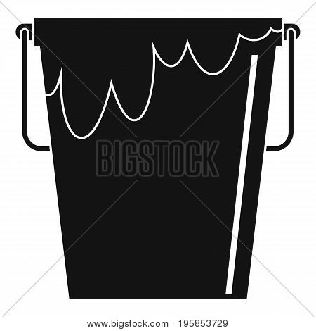 Bucket with glue icon. Simple illustration of bucket with glue vector icon for web