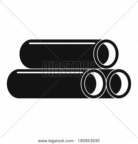 Tube icon. Simple illustration of tube vector icon for web