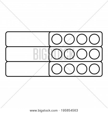 Cement block icon. Outline illustration of cement block vector icon for web