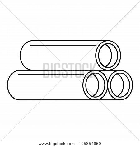 Tube icon. Outline illustration of tube vector icon for web
