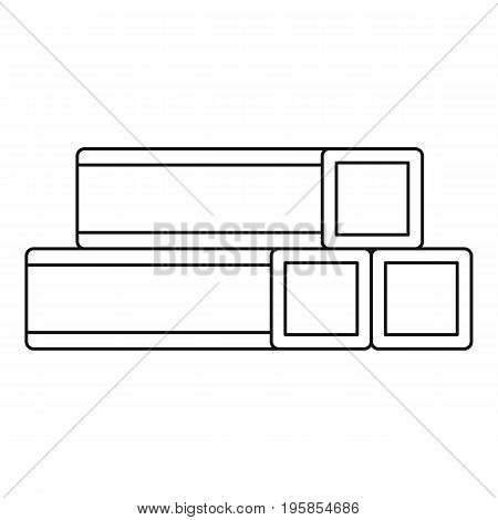 Metal bar icon. Outline illustration of metal bar vector icon for web