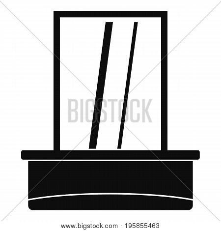 Window icon. Simple illustration of window vector icon for web