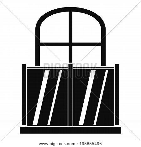 Glazed balcony icon. Simple illustration of glazed balcony vector icon for web