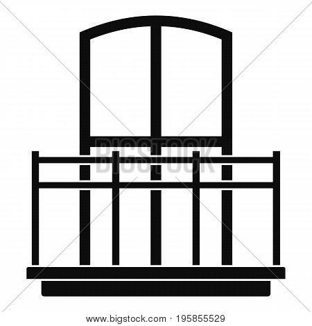 Wide balcony icon. Simple illustration of wide balcony vector icon for web