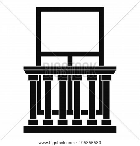 Balcony with columns icon. Simple illustration of balcony with columns vector icon for web