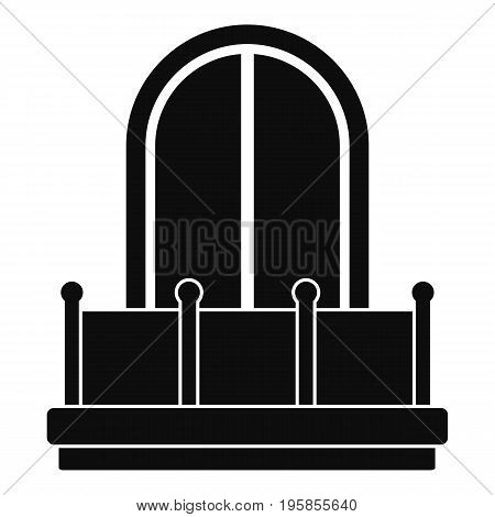 Window with shutters icon. Simple illustration of window with shutters vector icon for web