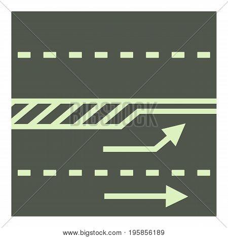 Autobahn icon. Cartoon illustration of autobahn vector icon for web