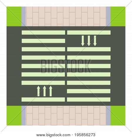 Pedestrian road icon. Cartoon illustration of pedestrian road vector icon for web