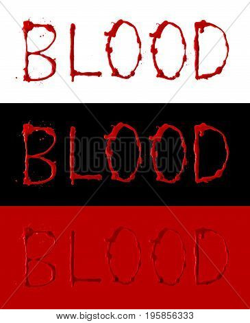 Collection of letters blood written dripping fonts
