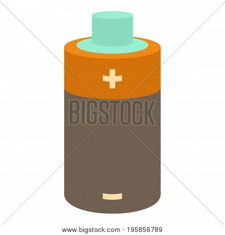 Small battery icon. Cartoon illustration of small battery vector icon for web