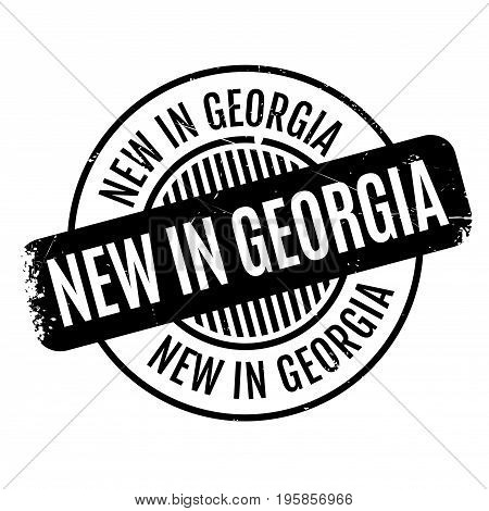 New In Georgia rubber stamp. Grunge design with dust scratches. Effects can be easily removed for a clean, crisp look. Color is easily changed.