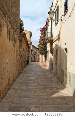 Former European colonial deserted street historical road