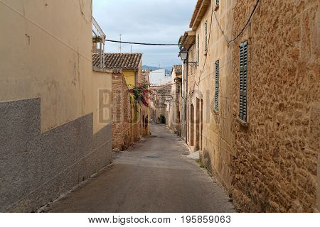 Former European colonial deserted street historical capital