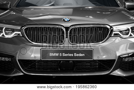 New Modern Bmw Sedan 5 Series Elegant Car Front View