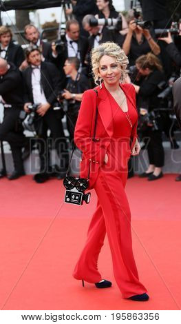 Katerina fon Gecmen-Waldeck attends the 'Nelyobov (Loveless)' screening during the 70th Cannes Film Festival at Palais des Festivals on May 18, 2017 in Cannes, France.