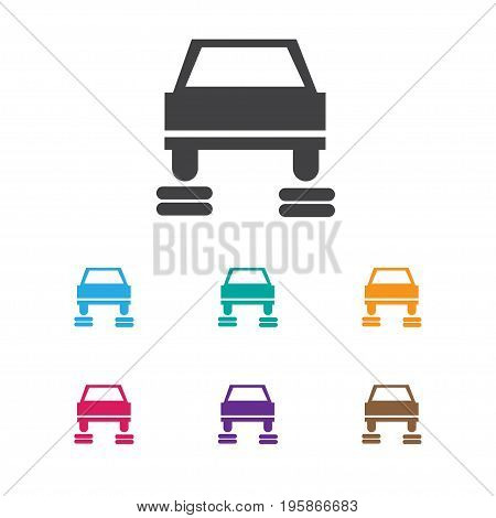 Vector Illustration Of Car Symbol On Service Icon