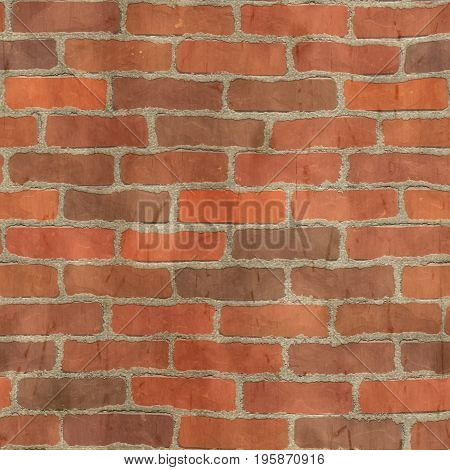 red brick texture seamless rendered with 2D program