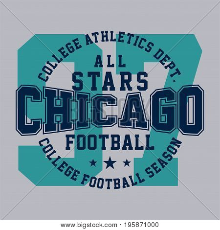 graphic design all star chicago for shirt and print
