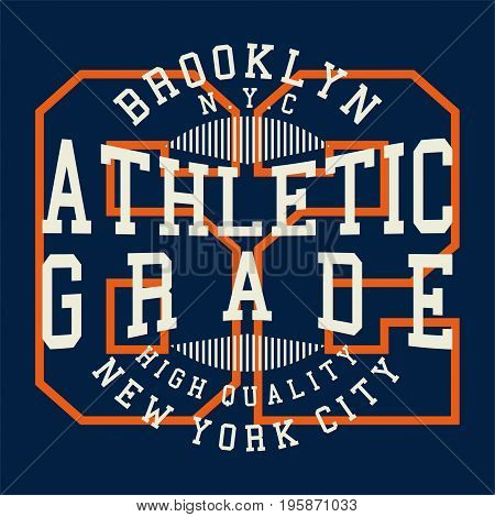 graphic design athletic grade for shirt and print