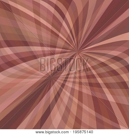 Abstract curved ray burst background - vector graphic from striped rays