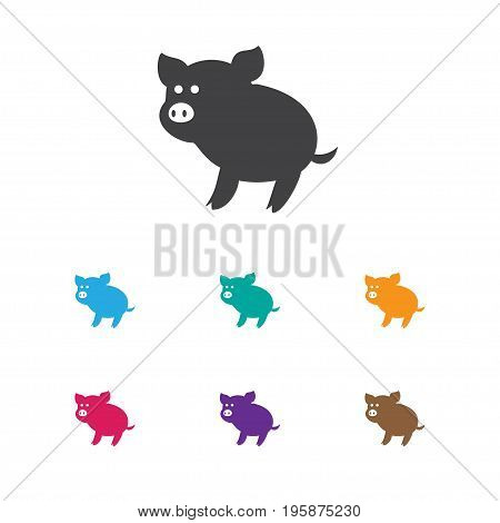 Vector Illustration Of Zoo Symbol On Piggy Icon