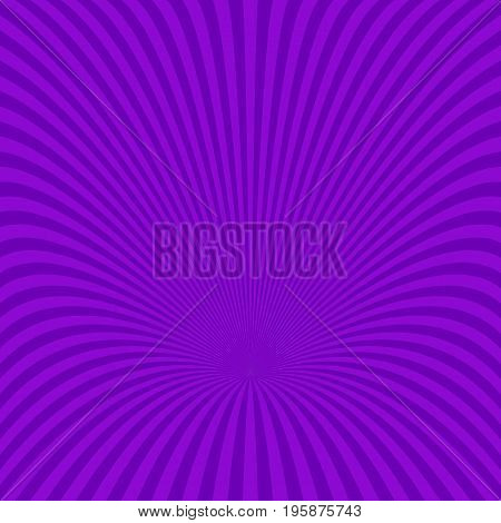 Purple abstract radial ray burst background - vector design from striped rays