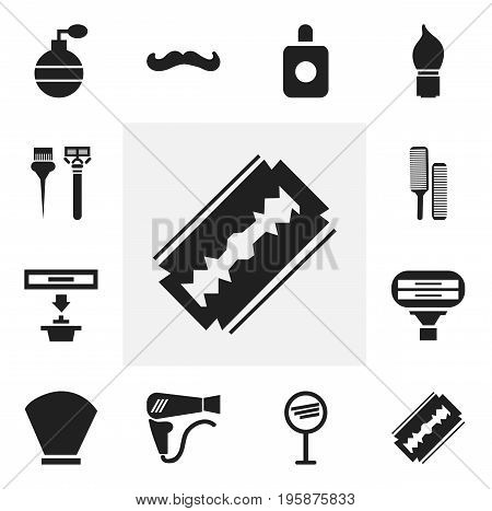 Set Of 12 Editable Coiffeur Icons. Includes Symbols Such As Scrub, Hoover, Exhauster And More
