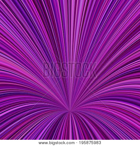 Curved ray burst background - vector graphic design from curved stripes in dark purple tones