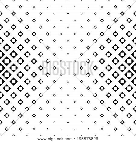 Abstract monochrome square pattern background - vector illustration