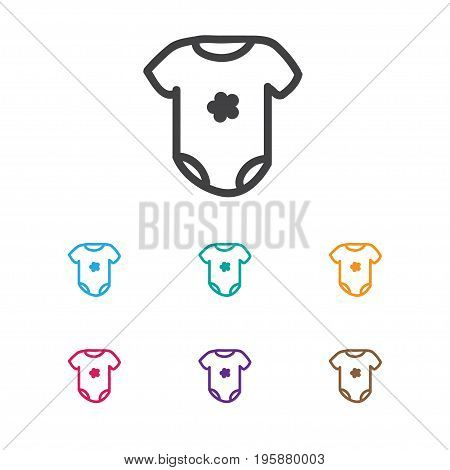 Vector Illustration Of Infant Symbol On Bodysuit Icon