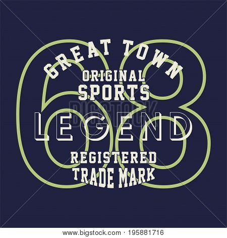graphic design original sports legend for shirt and print