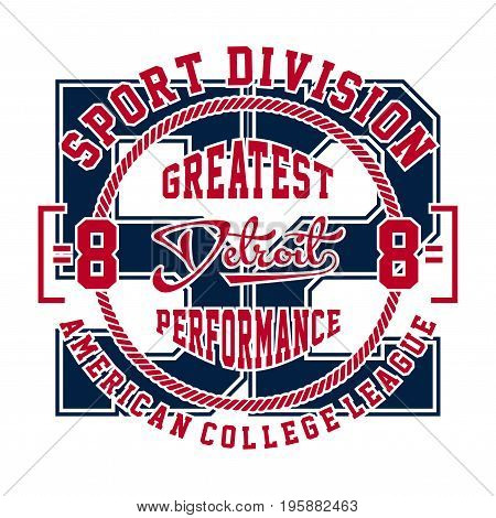 graphic design sport division detroit for shirt and print