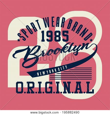 graphic design sports brooklyn original for shirt and print