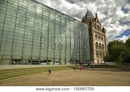 LONDON, UK - JUNE 6 , 2017: The Natural History Museum in London is a museum of natural history that exhibits a vast range of specimens from various segments of natural history