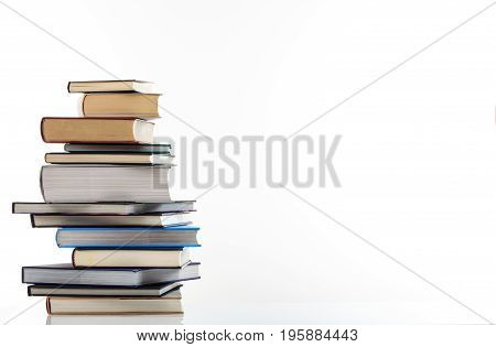Books Stack On White Background