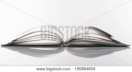 Book Open On White Background